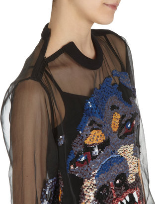 Givenchy Sequin Rottweiler Top