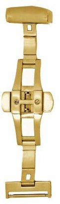Hadley Roma Hadley-Roma 18mm IP Gold-Plated Push Button Deployant Clasp