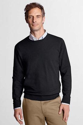 Lands' End Men's Regular Long Sleeve Soft Rayon Blend Crew Sweater
