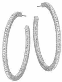 "Adriana Orsini Pavé Crystal Hoop Earrings/1.5"""