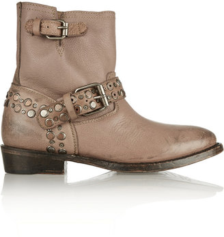 Ash Video studded distressed leather boots
