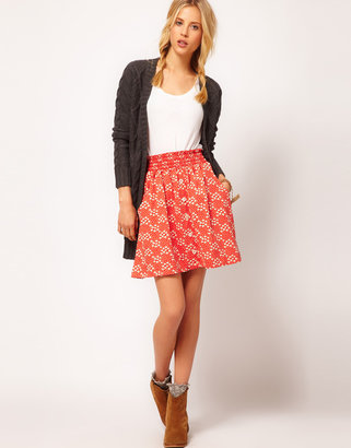 People Tree Aimée by Organic Jersey Floral Skater Skirt