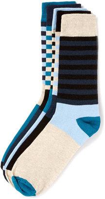 Topman Blue Stripe 5 Pack Socks