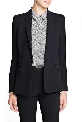 MANGO Outlet Engraved Button Suit Blazer