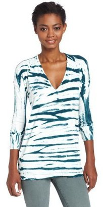 Young Fabulous & Broke Women's Ada Long Sleeve V-Neck Sketchy Stripe Top