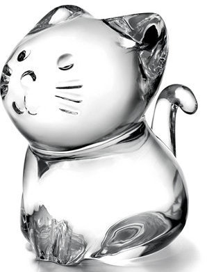 Baccarat Collectible Figurine, Minimals Kitty