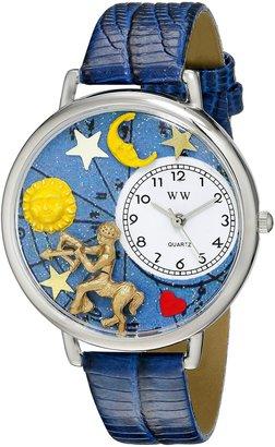 Whimsical Watches Unisex U1810010 Sagittarius Royal Blue Leather Watch