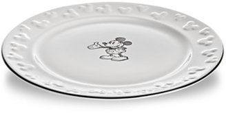 Disney Gourmet Mickey Mouse Dessert Plate - White/Black