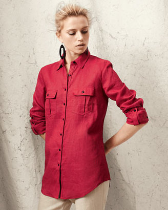 Go Silk Two-Pocket Linen Easy Shirt