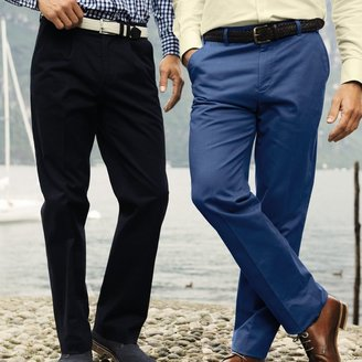 Charles Tyrwhitt Navy single pleat classic fit weekend chinos
