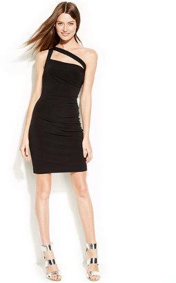 Calvin Klein One-Shoulder Cutout Sheath