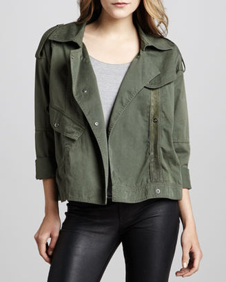 PJK Hauser Motorcycle Jacket, Olive (Stylist Pick!)