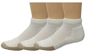 Thorlos Tennis Mini-Crew Thick Cushion 3-Pair Pack (White) Quarter Length Socks Shoes