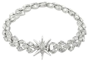 Belle Noel by Kim Kardashian Vintage Glamour Pave Bracelet with Star Clasp