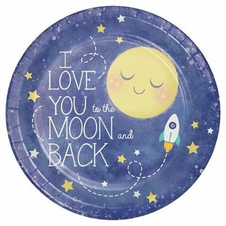 8ct To the Moon and Back Paper Plates