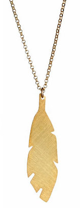 Carrie Saxl Feather Pendant Necklace