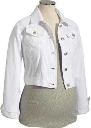 Old Navy Maternity White Denim Jackets