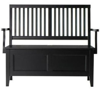 Martha Stewart Living Solutions 47 in. W Black Silhouette Wood Entry Bench