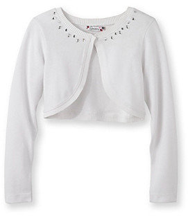 Speechless Speechelss® Girls' 7-16 Ivory Shrug with Rhinestones