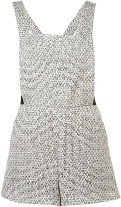 Boucle Pinafore Playsuit