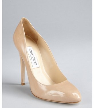 Jimmy Choo nude patent leather 'Victoria' pumps