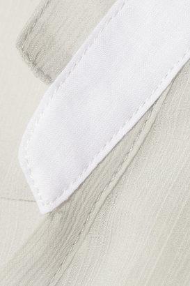 Helmut Lang Crinkled-chiffon top