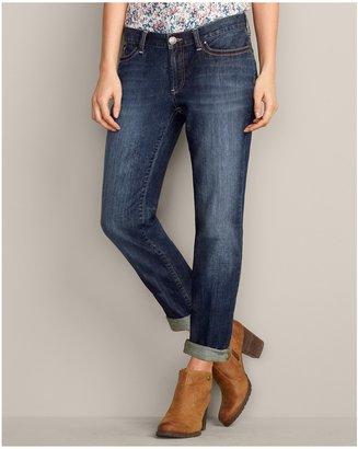Eddie Bauer Embroidered-Pocket Boyfriend Jeans - Floral