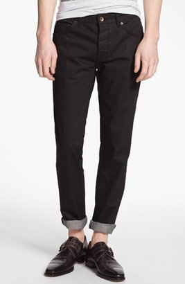 Topman 'Lux Collection' Coated Skinny Jeans Black 30 x 32