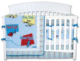"""Trend Lab Dr. Seuss """"One Fish, Two Fish"""" 4-pc. Crib Bedding Set by"""