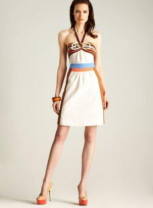 M Missoni Knit & Cotton Halter Dress