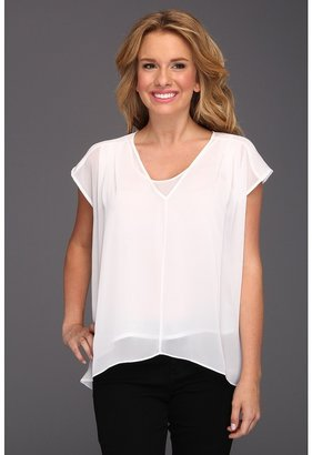 Kenneth Cole New York - Jules Hi-Low Blouse (White) - Apparel
