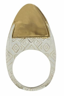 House Of Harlow Engraved Dome Ring in Gold/Silver