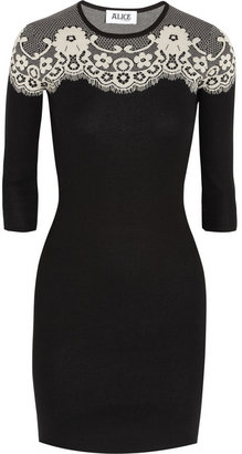 ALICE by Temperley Intarsia cotton mini dress