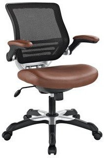 Modway Expedition Mesh/ Black Leatherette Office Chair