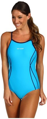 Orca CL-Pro Flex String-Back One-Piece (Turquoise/Navy) - Apparel