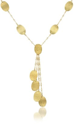 Torrini Lenticchie Moving - 18K Yellow Gold Drop Necklace