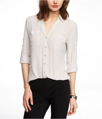 Express Studded Convertible Sleeve Portofino Shirt