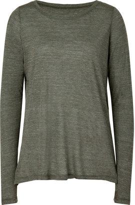 Vince Heather Olive Slash Side T-Shirt