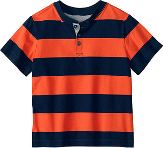 Bold Striped Henley Tee