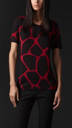Burberry Abstract Animal Print T-Shirt