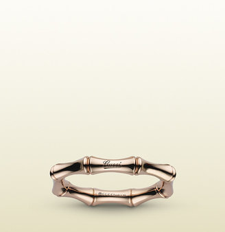 Gucci Bamboo Spring Ring In Rose Gold