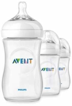 Avent Naturally Phillips Natural 3-Pack 9 oz. Bottles in Clear