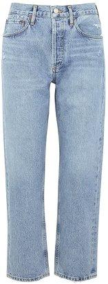 AGOLDE Parker Blue Straight-leg Jeans