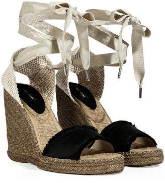 Marc Jacobs Black/Grey Esparille Wedge Sandals