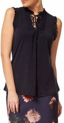 Dex Lace-Trimmed Sleeveless Top