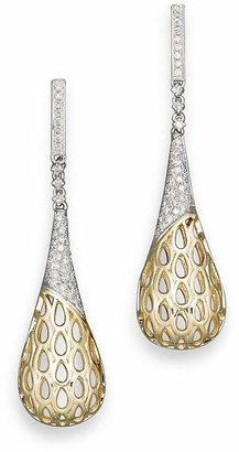 Bloomingdale's Diamond Pavé Cage Earrings in 14K Yellow and White Gold, .50 ct. t.w.