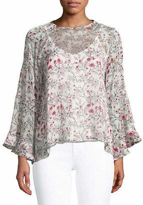 Marella Incenso Floral Silk Blouse