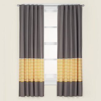 "84"" Yellow Stripe Curtain Panel (Sold individually)"