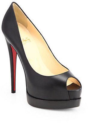 Christian Louboutin Palais Royal Leather Platform Pumps