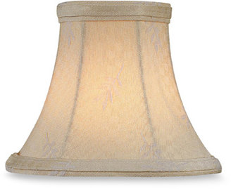 Bed Bath & Beyond White Leaf Jacquard Modified Bell Chandelier Shade